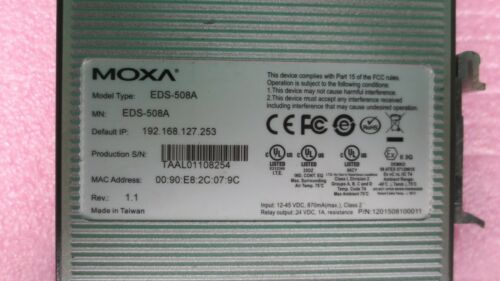 MOXA EDS-508A Managed Ethernet Switch EtherDevice