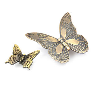 Butterfly Cupboard Cabinet Door Knob Cup Drawer Furniture Pull ...