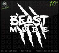 Beast Mode Vinyl Decal Sticker Diesel Bad Boy Girl Funny Truck Car Window Claw