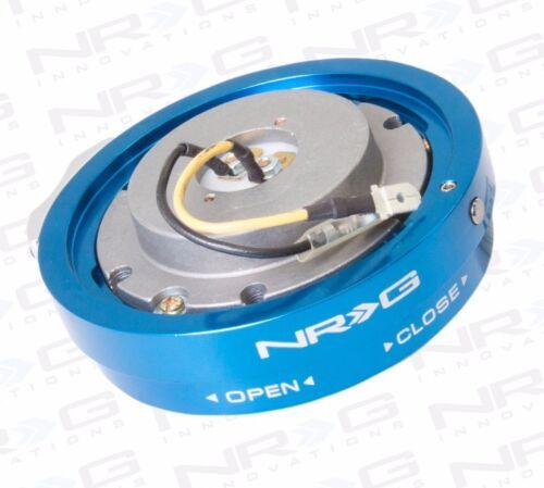 Thin Version // BLUE Finish NRG Steering Wheel Quick Release Hub Short