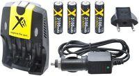 Ultra Hi 4aa Battery + 110/220v Dual Charger For Kodak Easyshare C190