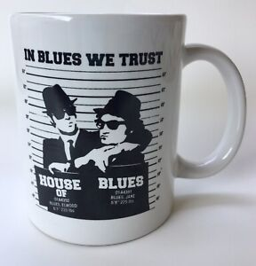 House Of Blues Brothers In Blues We Trust Chicago Coffee Cup Mug Akroyd Belushi
