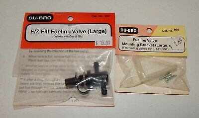 DUBRO DUBRO996 FUELING VALVE E//Z FILL GAS /& GLOW FUEL