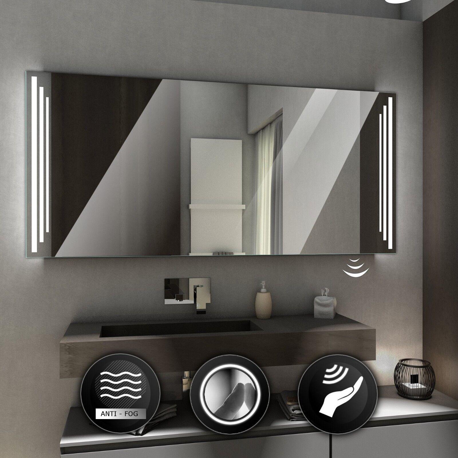 Praga Illuminé DEL Miroir de Salle de Bain Mur Miroir   Commutateurs   désembuage