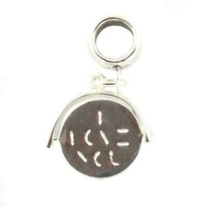 I LOVE YOU SPINNER Sterling Silver Dangle Charm / Carrier Bead