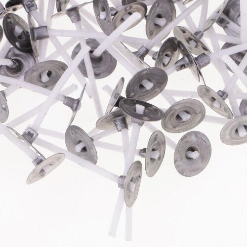 100 Stück Kerze Wachskerzen Docht mit Erhalter für DIY Kerzen Gießen 30 mm