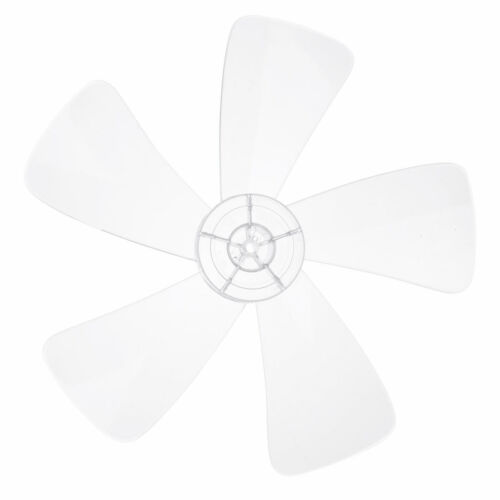 12//16/'/' Clear Three Leaves Pedestal//Table Fanner Fan Blades Replacement with Nut