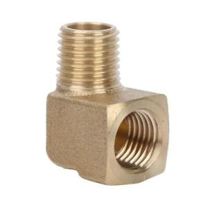Brass-1-4-034-NPT-Male-Female-90-Degree-Elbow-Pipe-Fitting-Connector-Durable