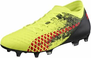 Puma Future 18.4 Firm Ground   AG Mens Football Boots - Yellow  3098e546fc