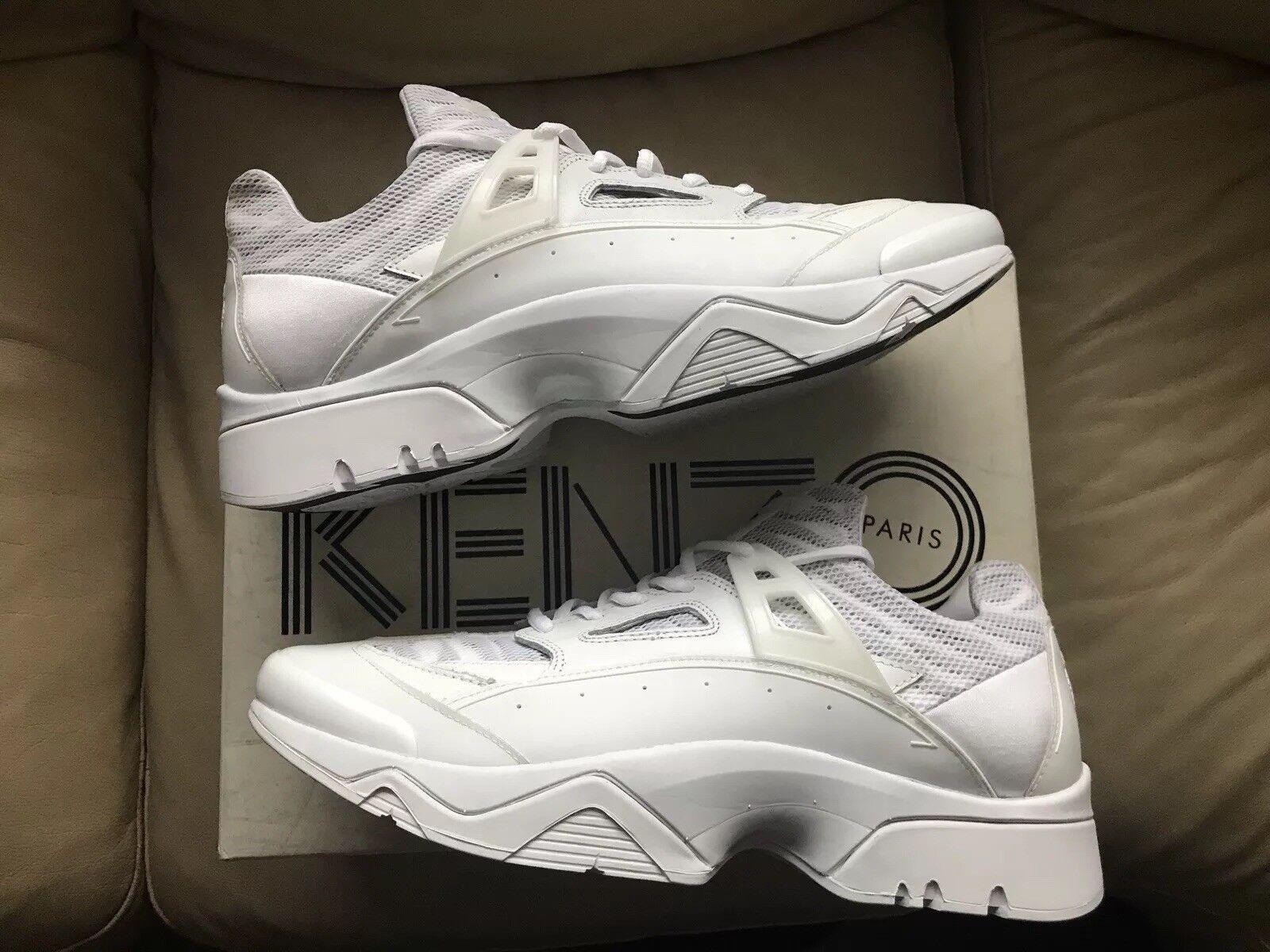 Brand New RARE Mens KENZO Sonic Sneakers Trainers White animal Print Size 10 UK