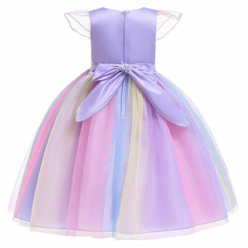 Girls Cosplay Unicorn Dress Children/'s Princess Elza Dress Kids Costume