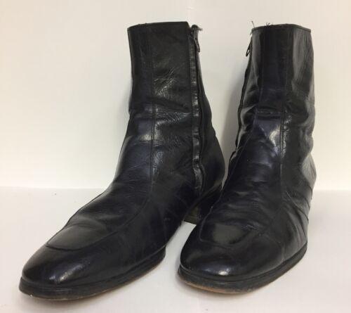 Vintage Freeman Black Leather Ankle Boots Beatle M