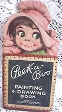 Peek-a-Boo Painting & Drawing Book, 1915 The Saalfield Publishing Co.