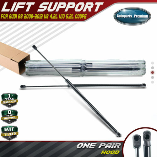 Set of 2 Front Hood Lift Supports Shock Struts for Audi R8 2008-2012 Coupe