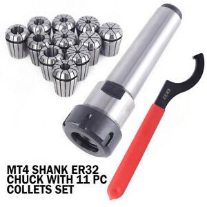 11pcs ER32 Spring Collets Set With R8-ER32 Collet Chuck Holder For CNC Milling
