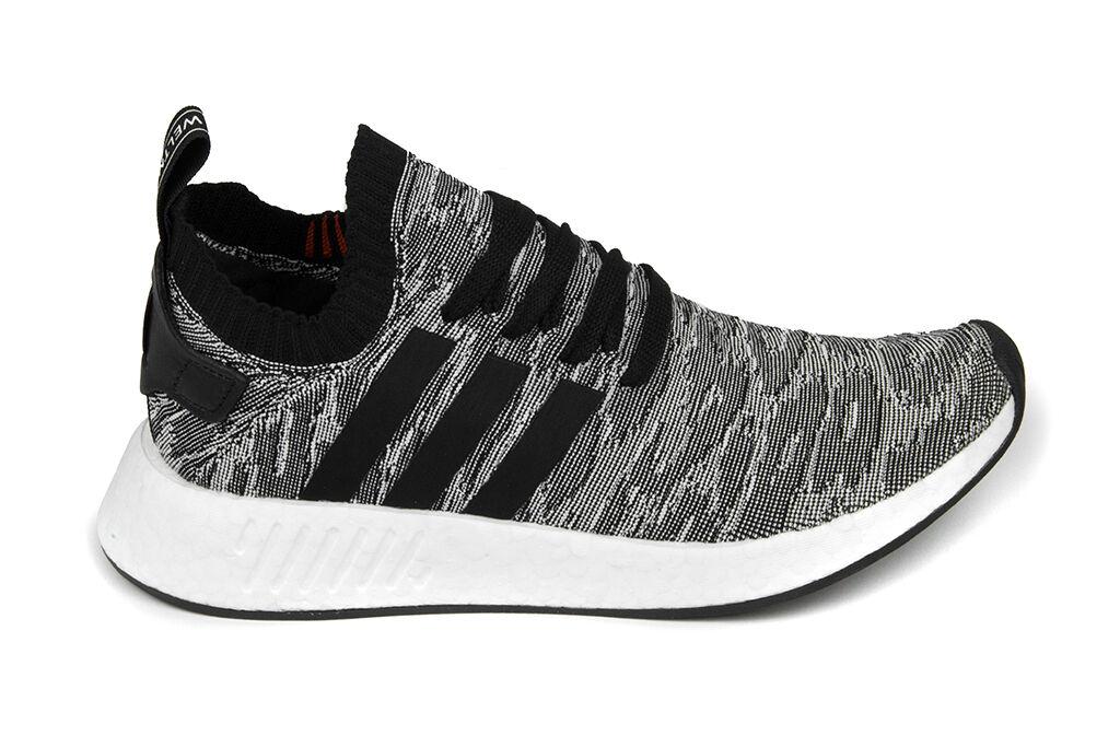 Adidas Originals NMD_R2 Primeknit in Core Black Core Black White BY9409 BNIB