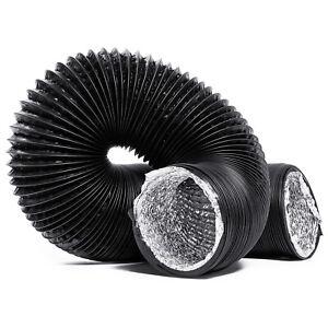 8 200mm x 5 meter Aluminium Flexible Ventilation Hydroponic Ducting Ventilation bathroom extractor fans