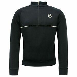 Sergio-Tacchini-Track-Top-Half-Zip-Mens-Jumper-Sweatshirt-Navy-37489-200-A113D