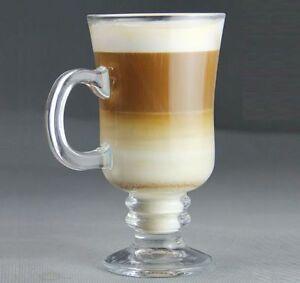 latte macchiato 6 kaffeegl ser teeglas cappuccino mit henkel ca 200ml 0 2l glas ebay. Black Bedroom Furniture Sets. Home Design Ideas
