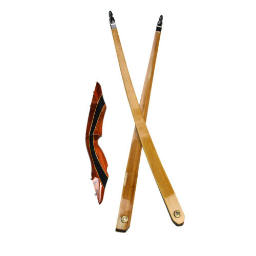 Archery Longbow Limbs Takedown 25-55lbs Traditional Wooden Bow Hunting Shooting