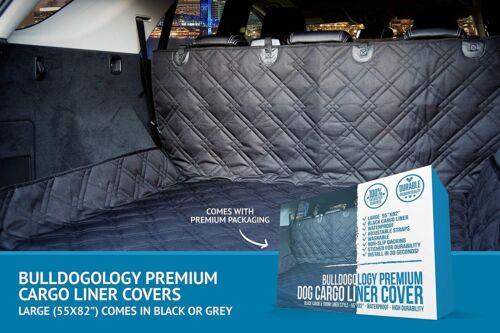 "Bulldogology Heavy Duty Dog Cargo Liner for All Vehicles Large 55/""x82"" Black"