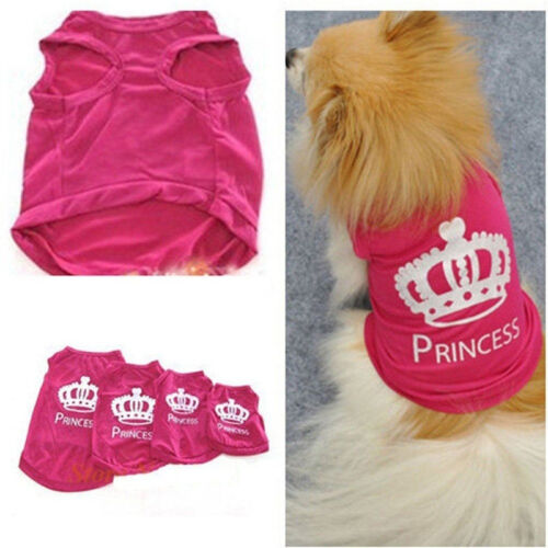 Pet Dog Cat Princess Coat T-shirt Clothes Summer Vest Coat Puppy Costumes Lovely