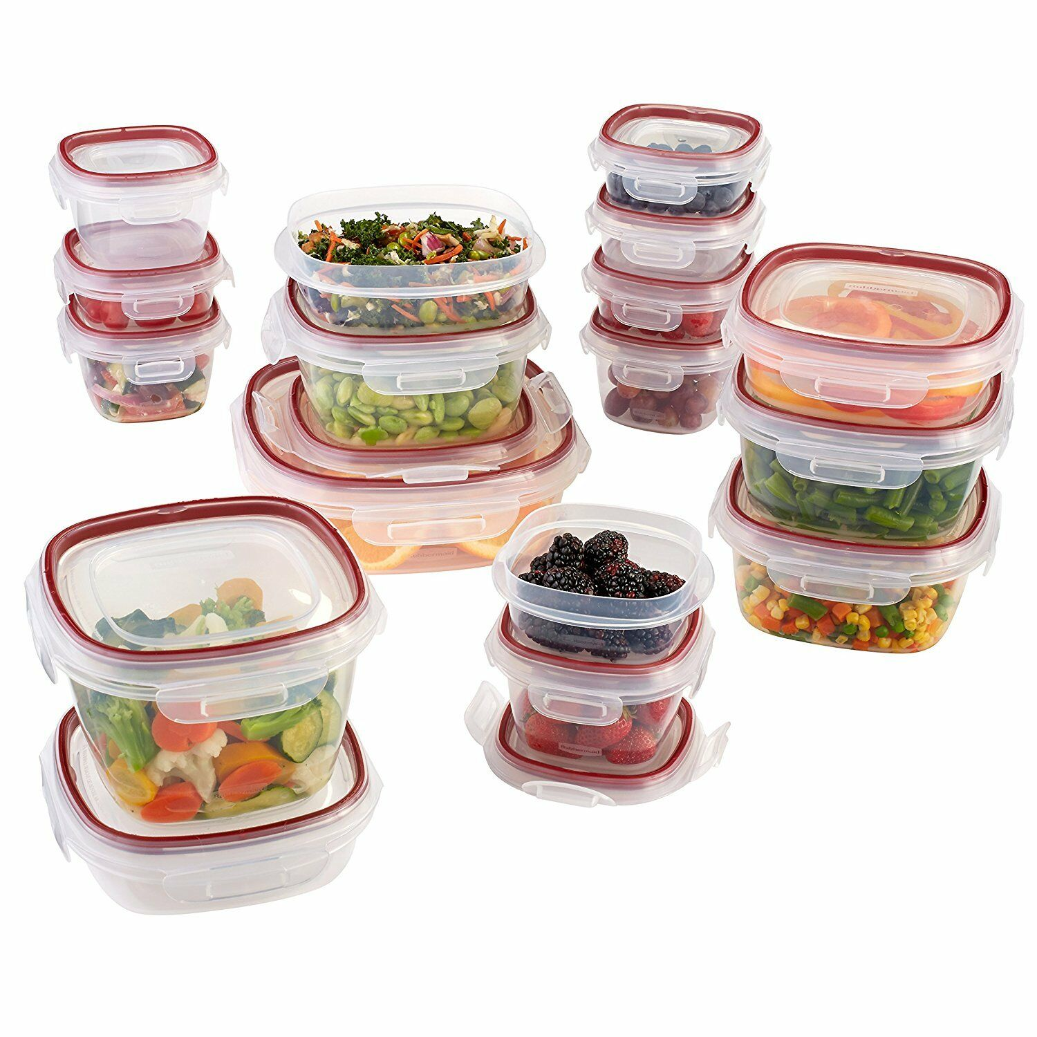 Rubbermaid Easy Find Lock-Its Food Storage Containers, 5 Sets