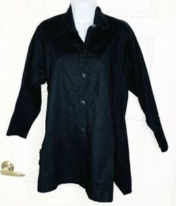 Planet-Lauren-G-Grossman-Black-Blazer-Jacket-One-size-fits-all-Lagenlook-Boxy