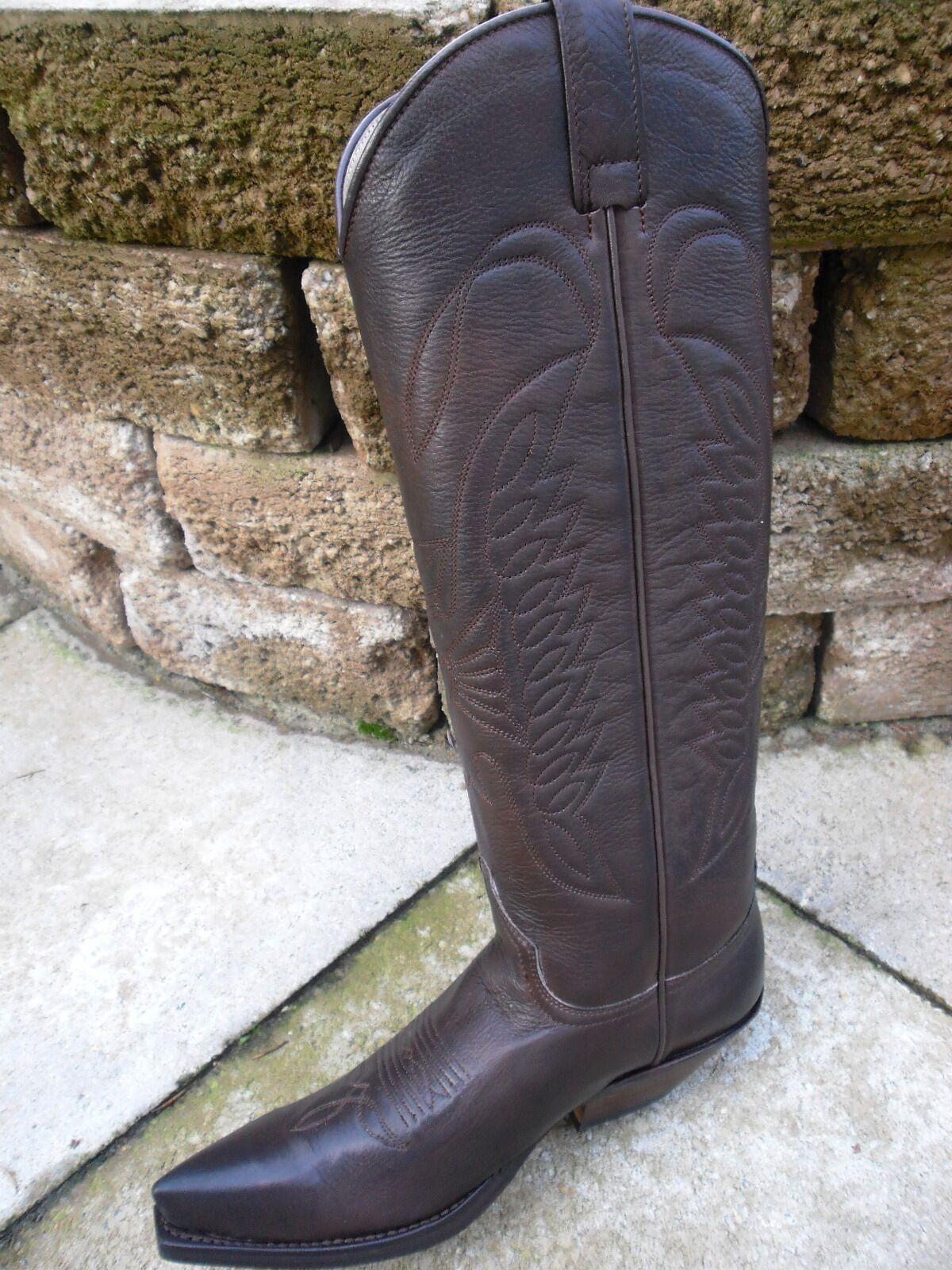 Sendra alta-Western botas 7167 marrón (amaral 222 usado estrella negra) talla 6 = 39