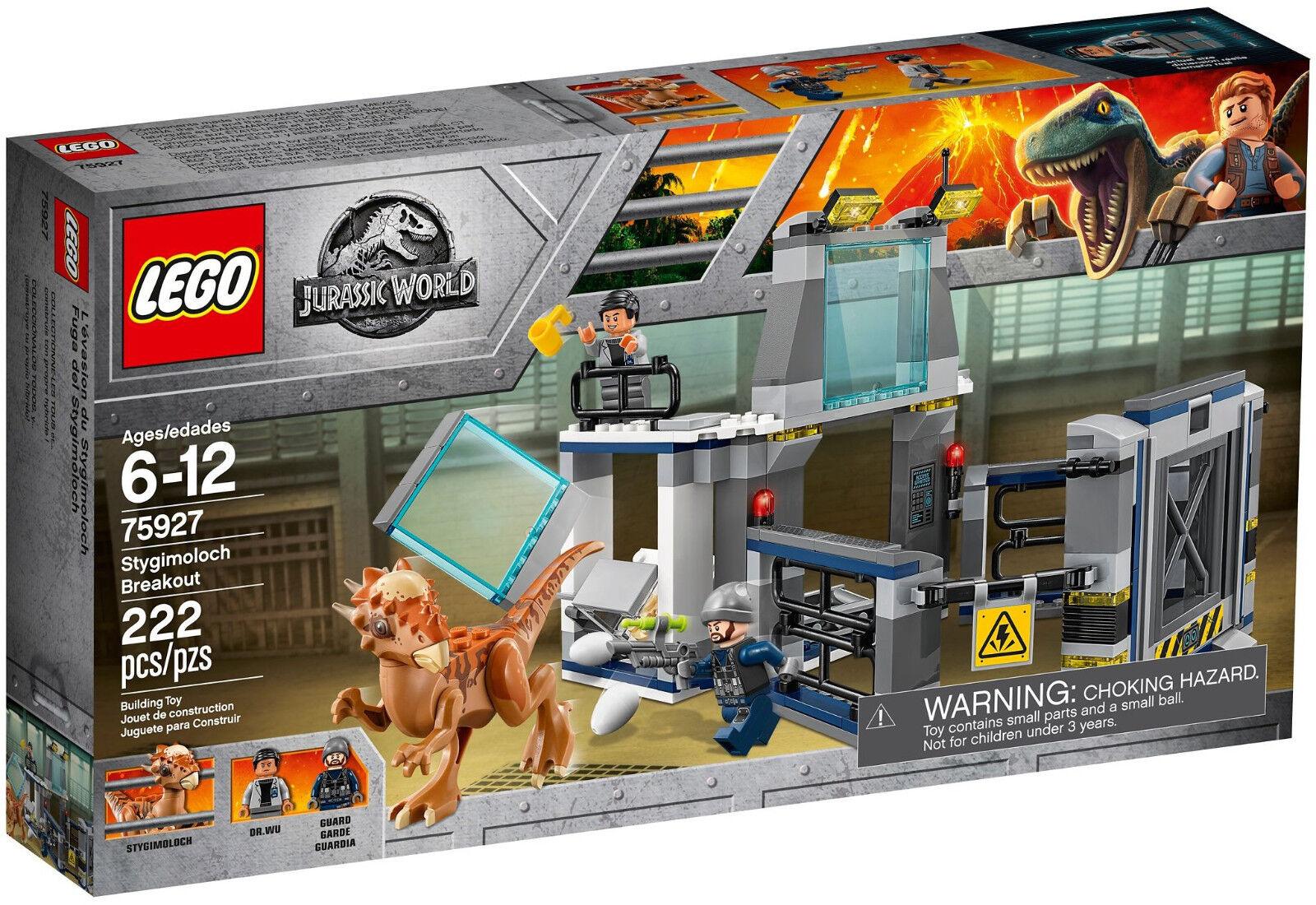 Lego Jurassic World - 75927 estallido del Stygimoloch Breakout-nuevo & OVP