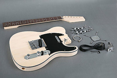 CUSTOMER RETURN - TWISTED NECK - TELE STYLE ELECTRIC GUITAR KIT #1