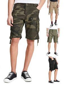 Superdry Mens Plain Chino Shorts Cotton Summer Half Pant Casual Short Beige