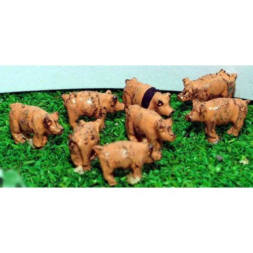 N Scale 1//148th Langley A69p Painted 8 x Pigs
