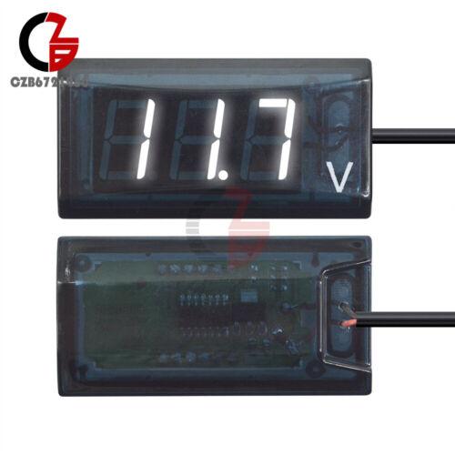 Digital LED Display Voltmeter Voltage Gauge Panel Meter 12V For Car Motocycle