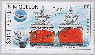 Pierre Miquelon Spm 1990 604 498 Fishing Ship Schiff Firschereischiff Mnh Nordamerika Kanada Gehorsam St
