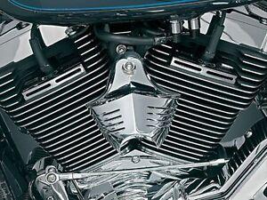 HARLEY-DAVIDSON-H-D-Chrome-V-Shield-Horn-Cover-KURYAKYN-8128