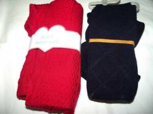 NEW-Lot-2-Girls-4-5-Winter-Tights-Childrens-Place-Red-and-Dark-Navy