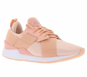 Puma-zapatos-brillantes-cortos-senora-zapatillas-Muse-saten-en-Pointe-rosa