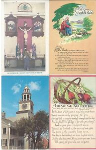 Vintage-Different-Postcards-Circa-1800-039-s-1900-039-s-Lot-of-5