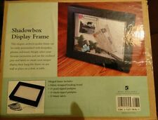 BLACK SHADOWBOX DISPLAY FRAME - brand new 29 x 24 x 4.5 cm see info