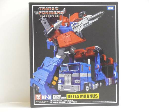 Takara Tomy Transformers Masterpiece MP31 Delta Magnus Action Figure Nuovo F/S