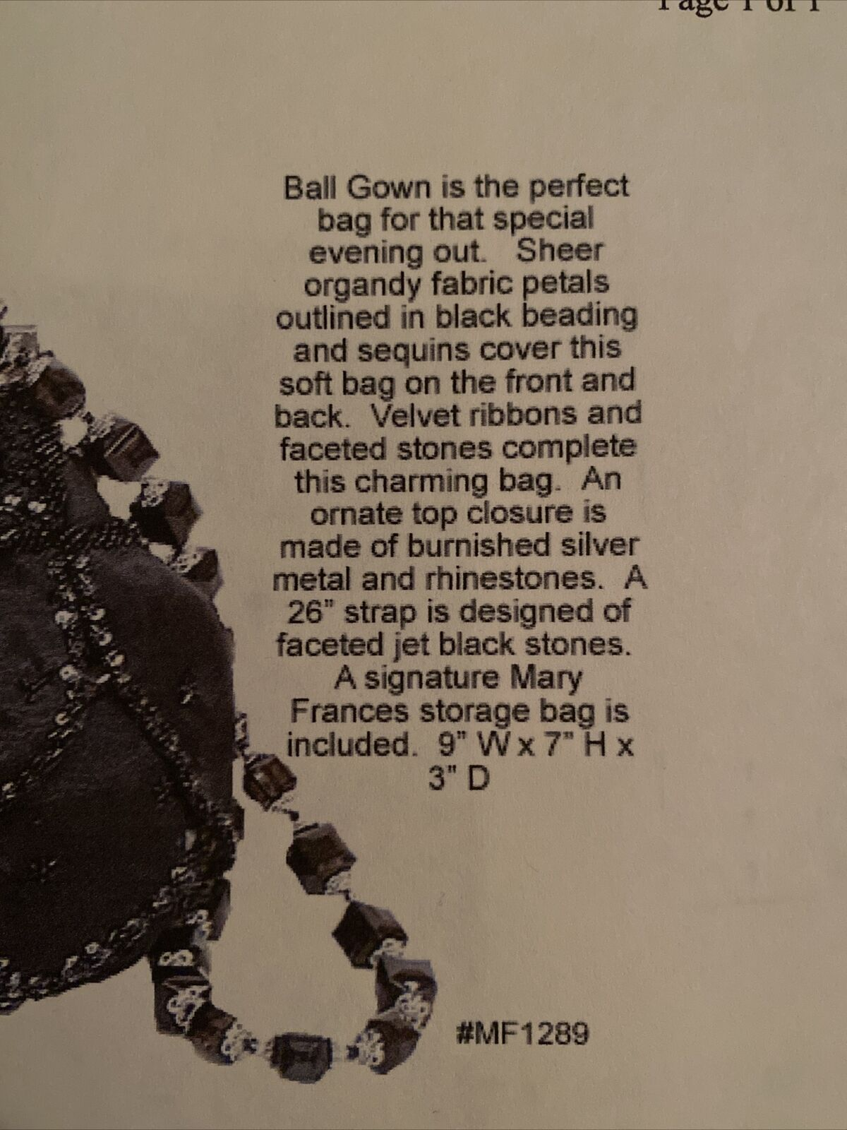 """Mary Frances Vintage Purse Rare """"Ball Gown"""" - image 4"""