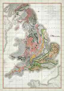antique-first-geological-map-England-Wales-Britain-W-Smith-1815-art-print-poster