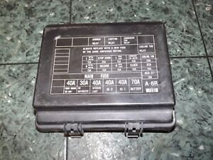 OEM 88-91 USDM Honda Prelude Si SF1 SF2 engine bay fuse box lid cover -  black | eBayeBay