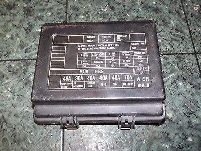 oem 88-91 usdm honda prelude si sf1 sf2 engine bay fuse box lid cover -  black | ebay  ebay