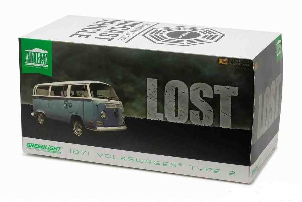 verdelight escala 1 18 perdió 1971 Volkswagen tipo 2 Diecast Modelo réplica van