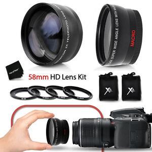 58mm-Wide-Angle-w-Macro-2x-Telephoto-Lens-f-Canon-EOS-Rebel-T6i