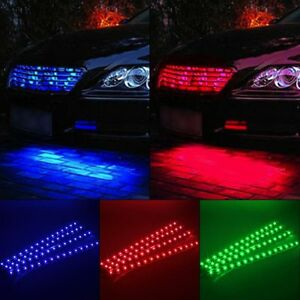 White 4Pcs 12/'/'//15 LED Strip Underbody Light Waterproof Car Motor Truck Boat 12V