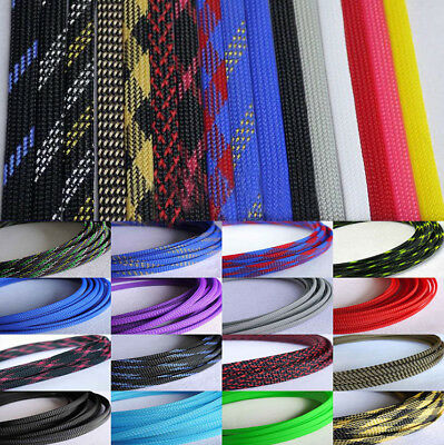 1M x 4MM Grey High Densely Expandable Braided Dense PET Sleeving Cable 3 Weave