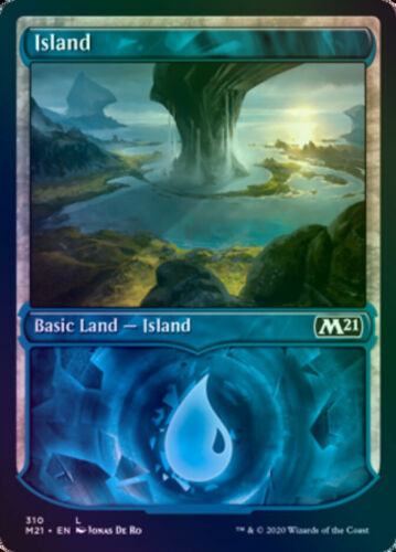 Island Foil Showcase M21 Core Set 2021 310//274 NM EN